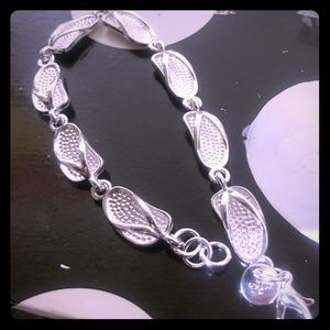 Jewelry - 925 silver mixed and plated baby shoe bracelet